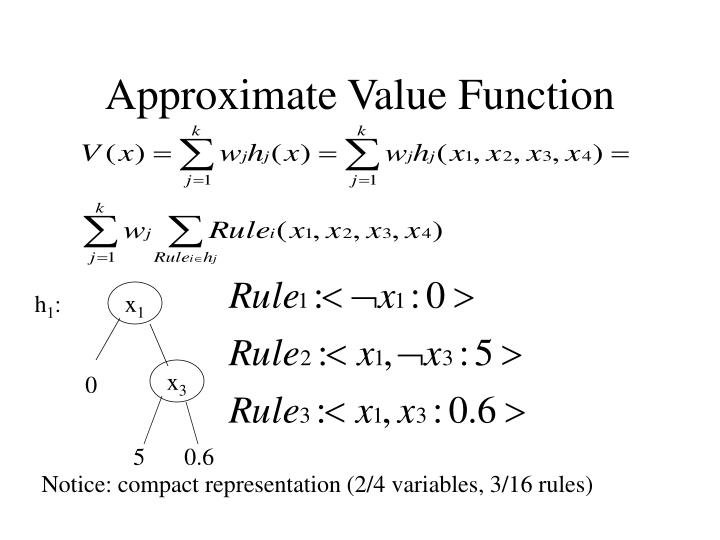 Approximate Value Function