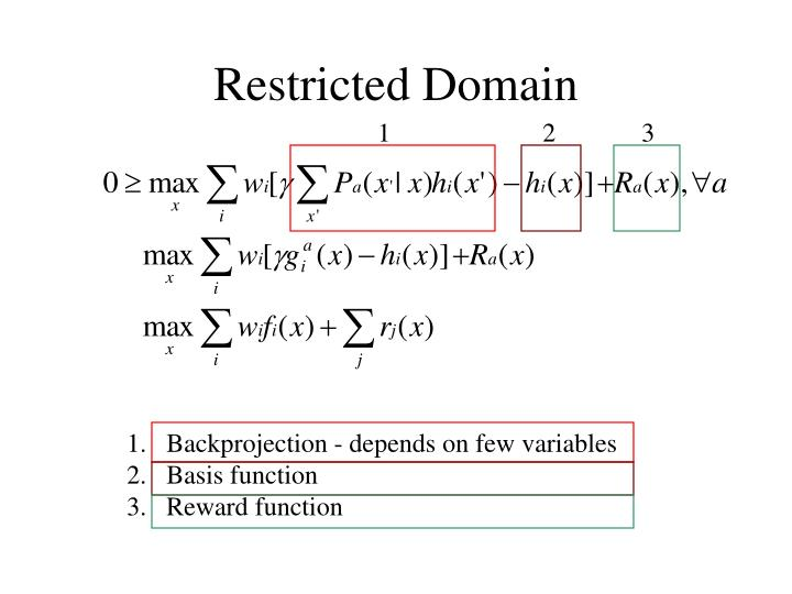 Restricted Domain