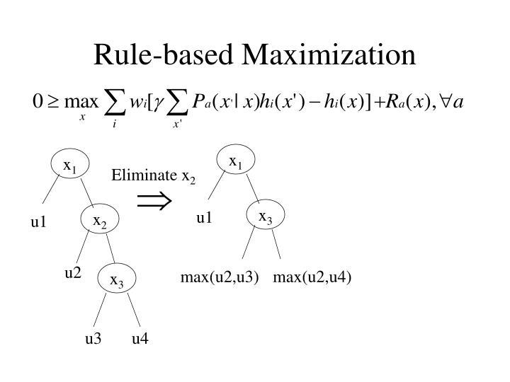 Rule-based Maximization