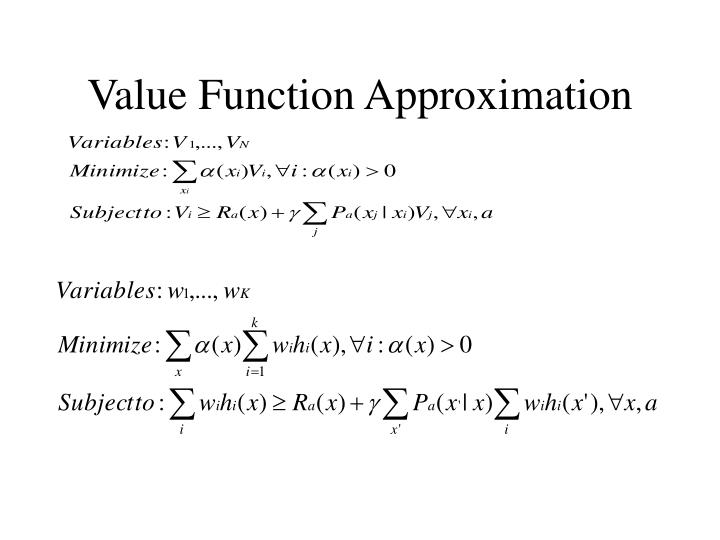 Value Function Approximation
