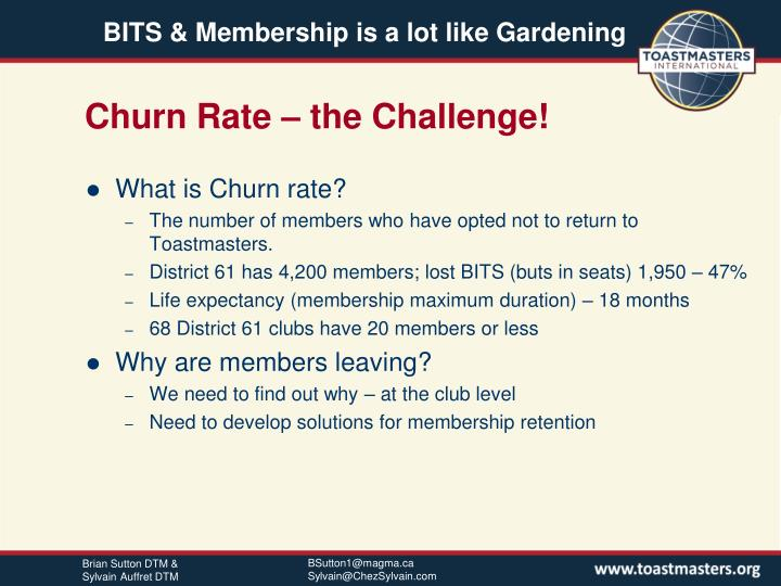 Churn Rate – the Challenge!