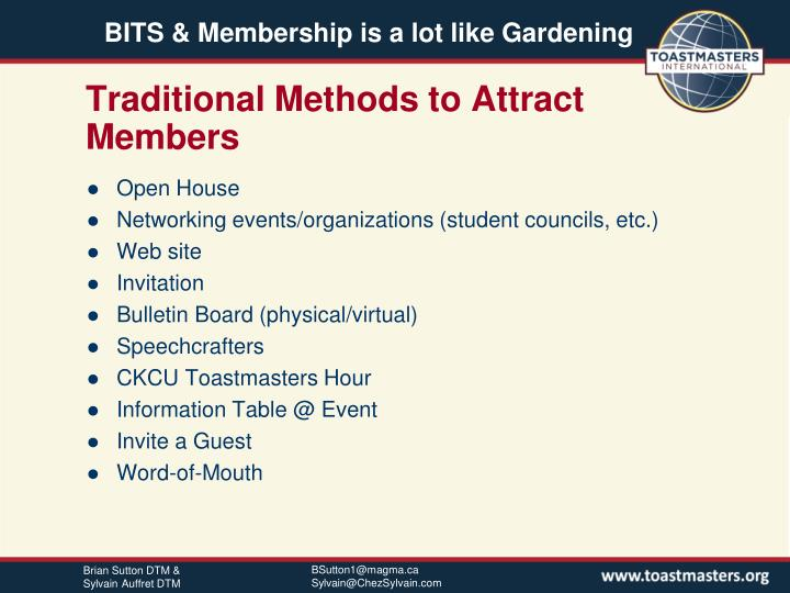 Traditional Methods to Attract Members