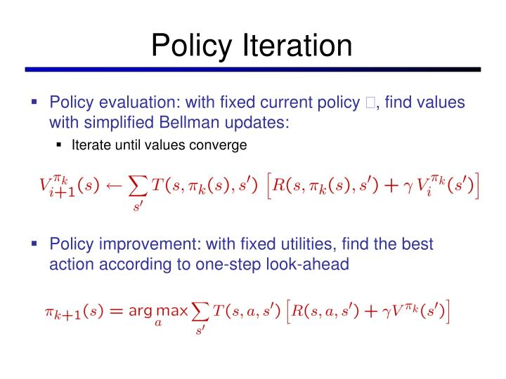 Policy Iteration