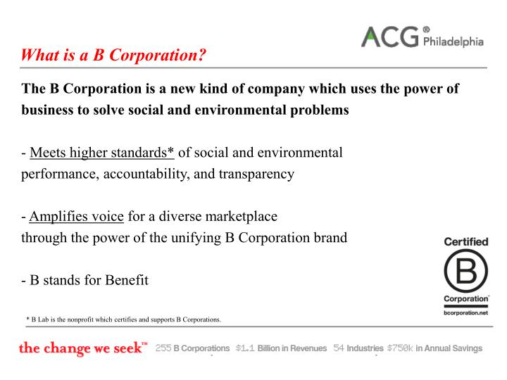 What is a B Corporation?