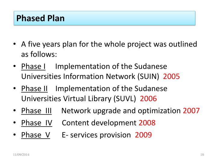 Phased Plan