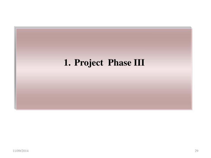 Project  Phase III