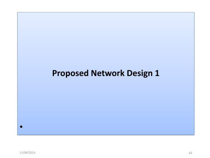 Proposed Network Design 1