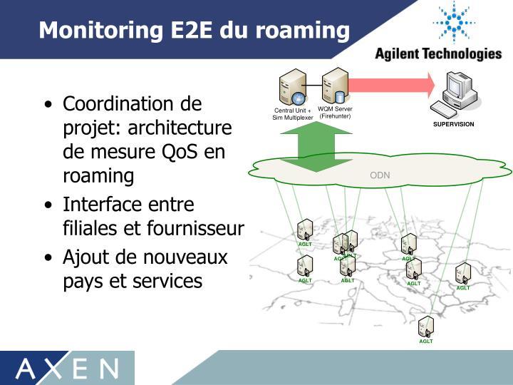 Monitoring E2E du roaming