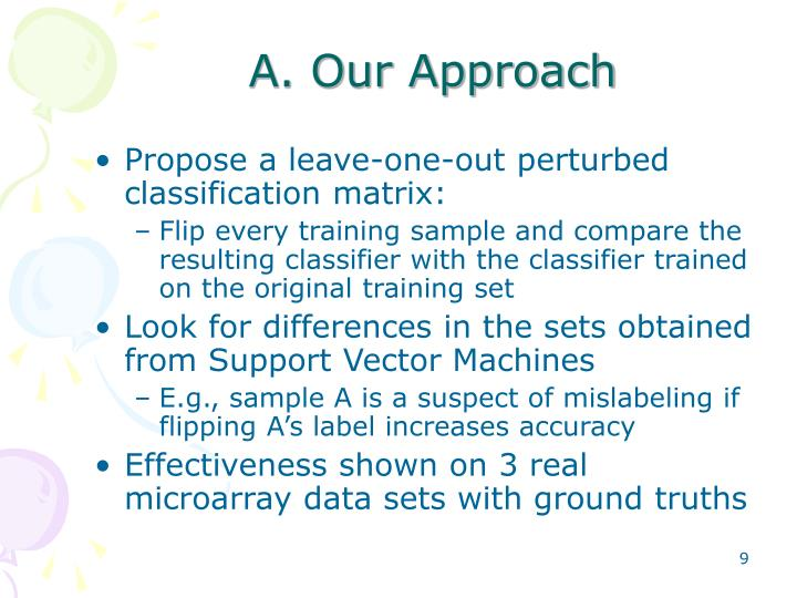 A. Our Approach
