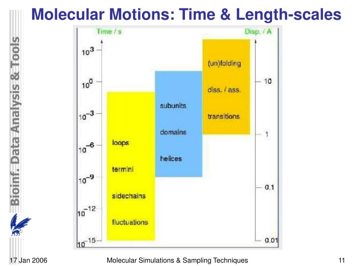Molecular Motions: Time & Length-scales