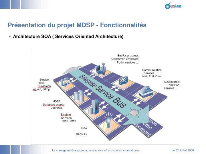 Présentation du projet MDSP - Fonctionnalités
