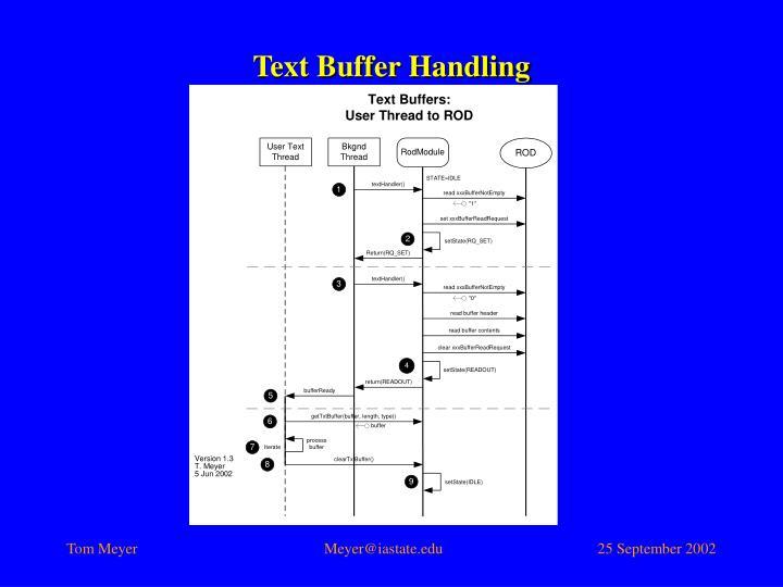 Text Buffer Handling
