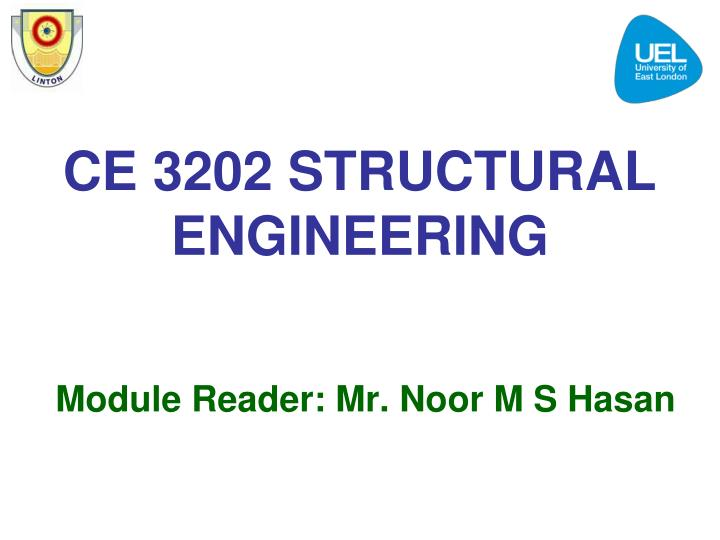 ce 3202 structural engineering