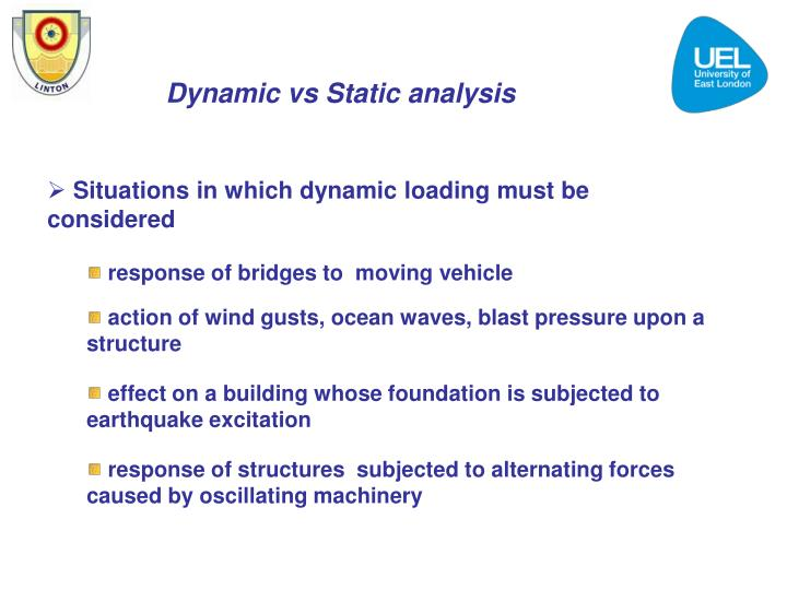 Dynamic vs Static analysis