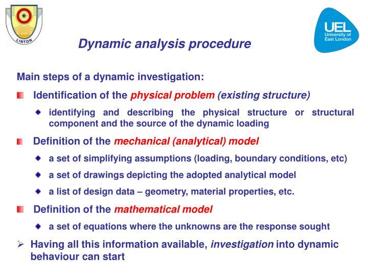 Dynamic analysis procedure