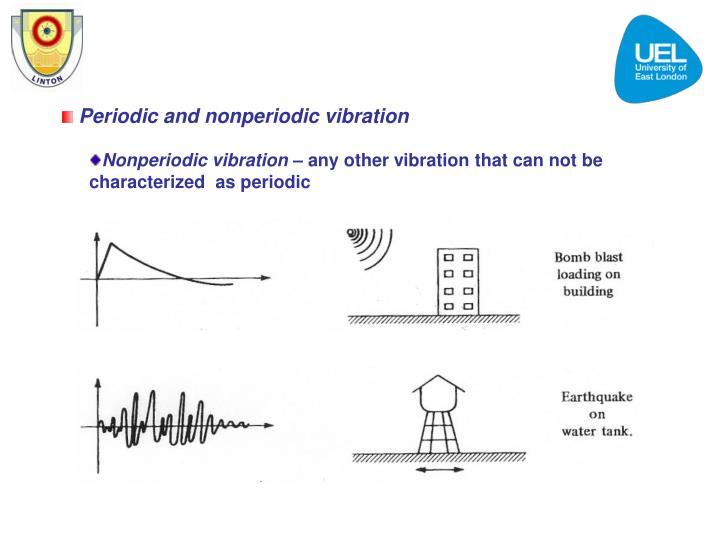 Periodic and nonperiodic vibration