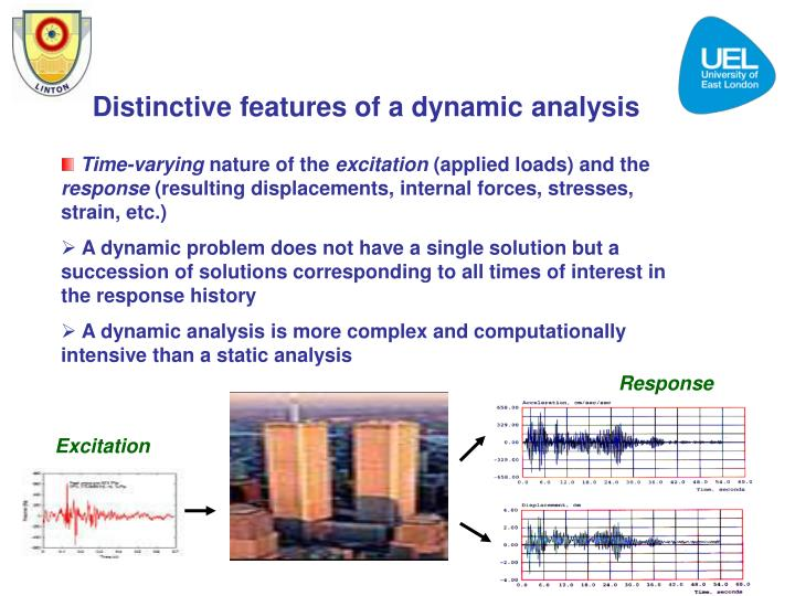 Distinctive features of a dynamic analysis
