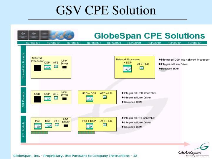 GSV CPE Solution