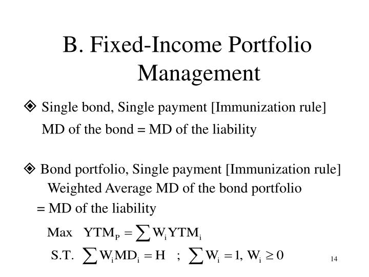 B. Fixed-Income Portfolio