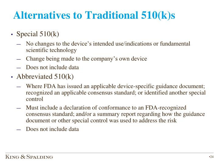 Alternatives to Traditional 510(k)s