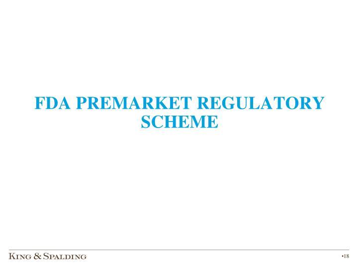 FDA PREMARKET REGULATORY SCHEME