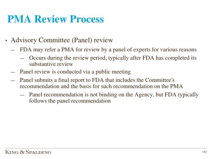 PMA Review Process