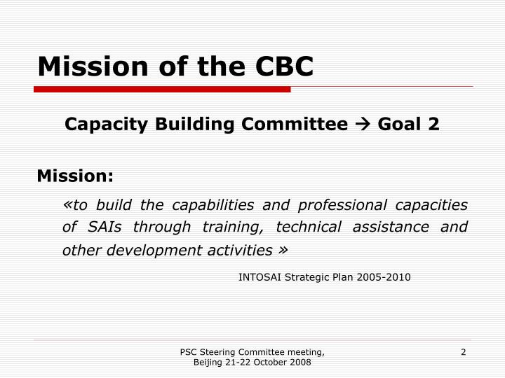Mission of the CBC