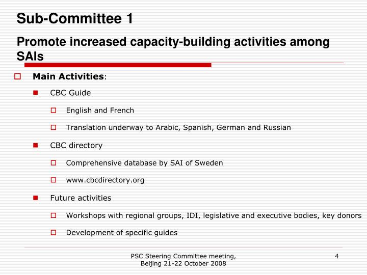 Sub-Committee 1