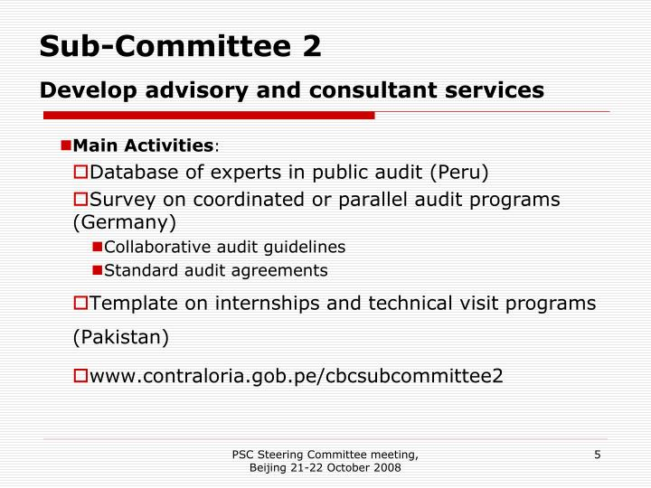 Sub-Committee