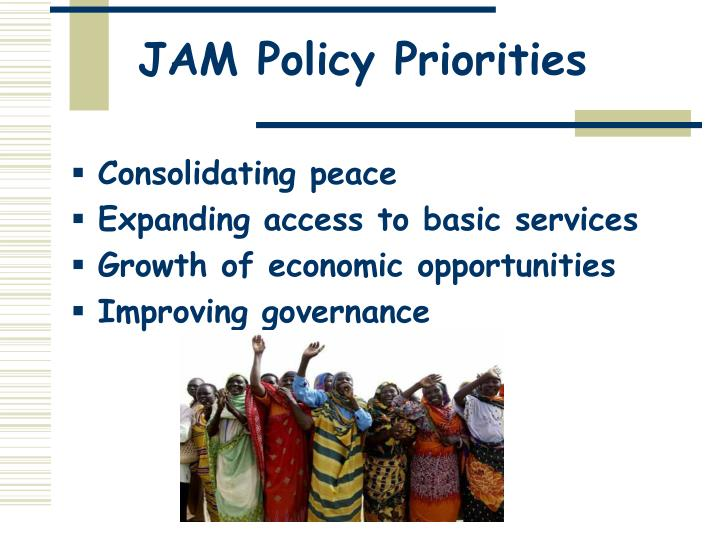 JAM Policy Priorities
