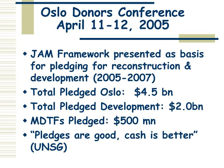 Oslo Donors Conference