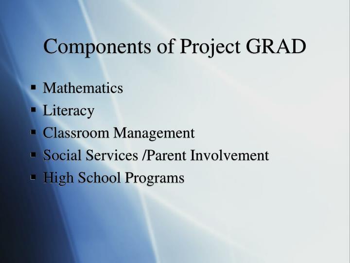 Components of Project GRAD