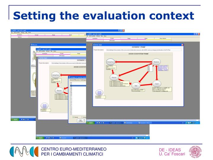 Setting the evaluation context