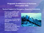 proposed architecture of hurricane evacuation dss1