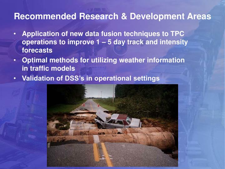 Recommended Research & Development Areas