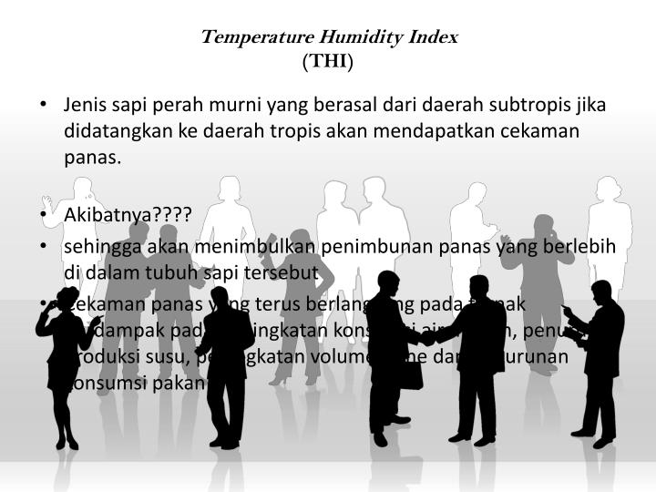 Temperature Humidity Index