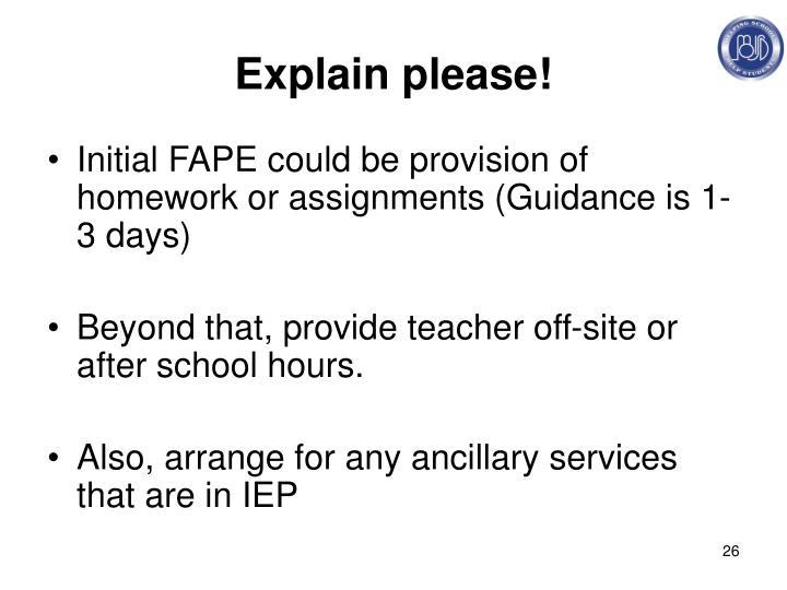 Explain please!
