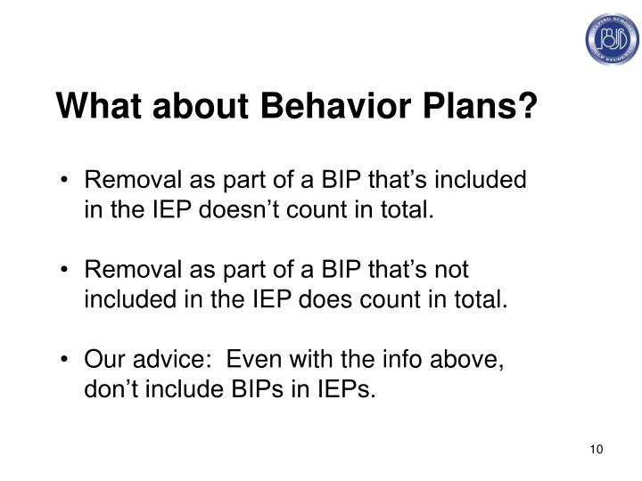 What about Behavior Plans?