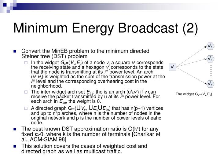Minimum Energy Broadcast (2)
