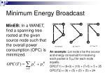 minimum energy broadcast