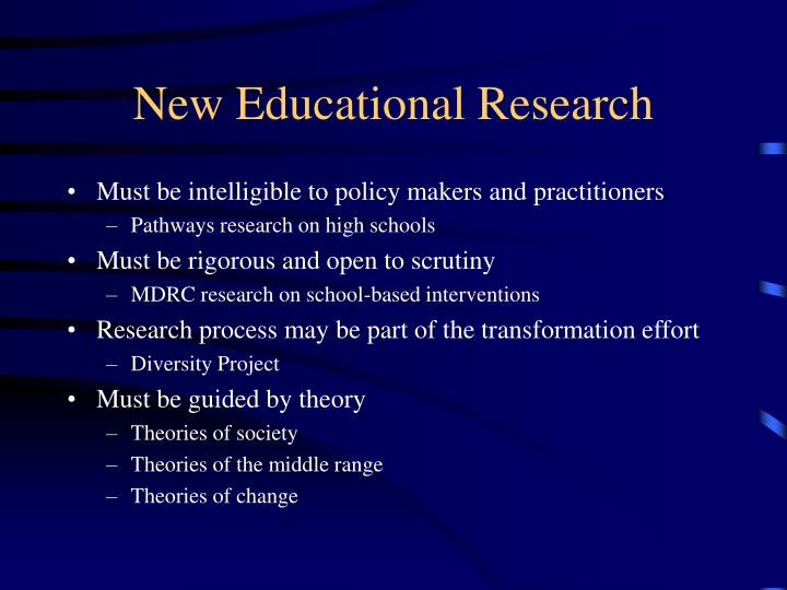 New Educational Research
