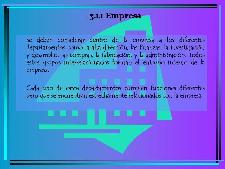 3.1.1 Empresa