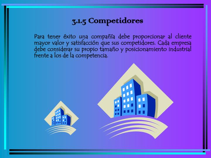 3.1.5 Competidores