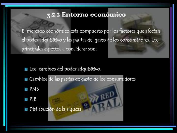 3.2.2 Entorno económico