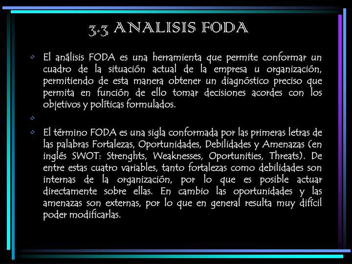 3.3 ANALISIS FODA