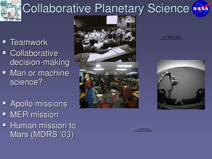 Collaborative Planetary Science