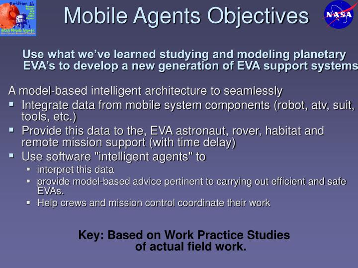 Mobile Agents Objectives