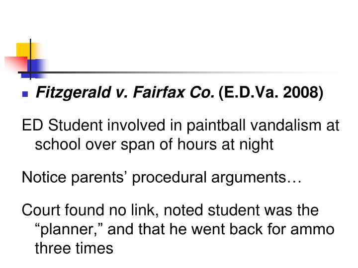 Fitzgerald v. Fairfax Co.