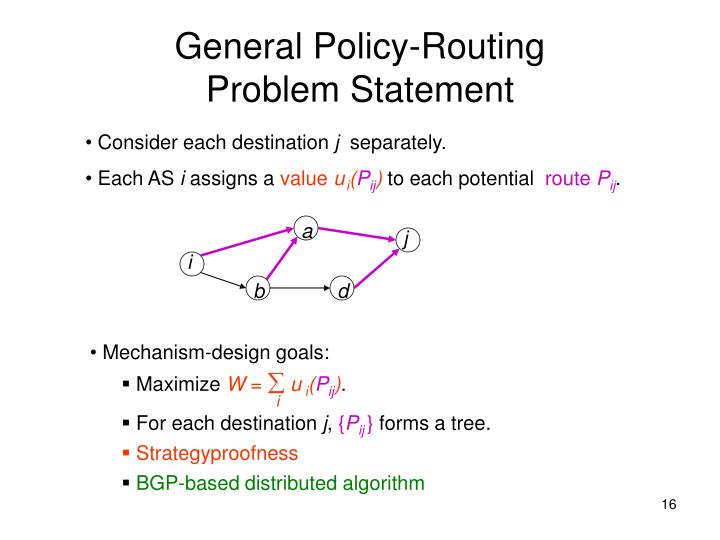 General Policy-Routing