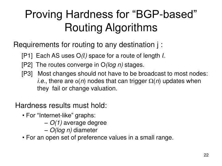 "Proving Hardness for ""BGP-based"""
